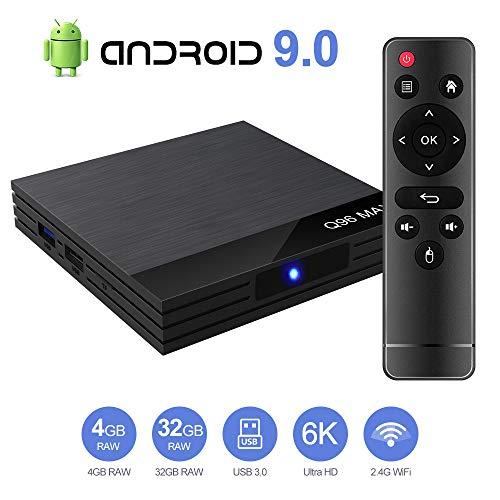 Android 9.0 TV Box Smart Media Box 4GB RAM 32GB ROM H6 Quadcore WIFI...