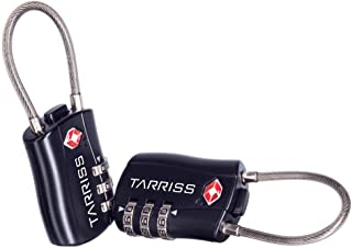 Tarriss TSA Lock (2 Pack) (Jet Black)