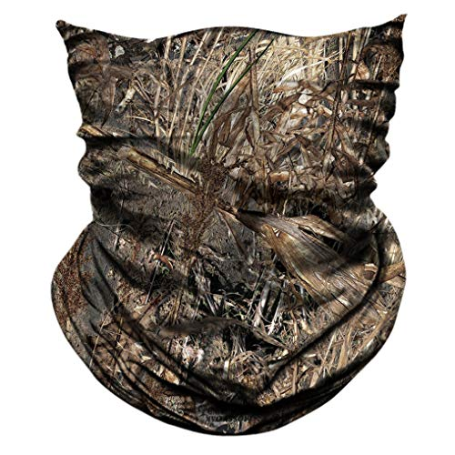 AXBXCX 2 Pack - Camouflage Print Seamless Neck Gaiter Bandana Face Shield Mask Headband Headwear Sweatband Wristband Scarf for Fishing Hiking Hunting Cycling Motorcycle Riding Skiing Outdoor Sport 054