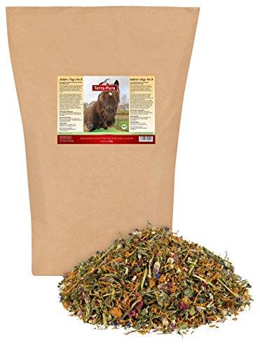 TERRA-PURA Tiernahrung 100% Bio-Kräutermischung für Pferd Jeden Tag No.3, Potpourri aus getrockneten Blüten, Blättern, Früchten und Samen, gesunde Belohnng, 2000 g