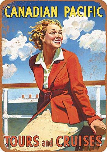 Cartel de chapa de hierro del Pacífico canadiense para pared, póster decorativo, placa de advertencia, marea decorativa para habitación, cafetería, bar, club, jardín