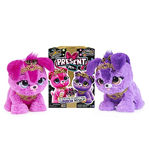 Present Pets, Princess Puppy Interactive Plush Toy with Over 100 Sounds and Actions (Style May Vary), Kids Toys for Girls Ages 5 and up