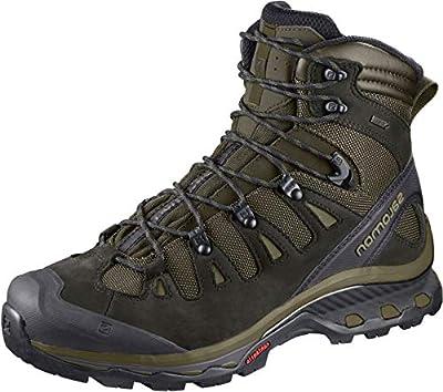 Salomon Men's Quest 4D 3 GTX Backpacking Boots, Grape Leaf/Peat/Burnt Olive, 10.5
