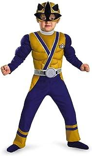 Morris Costumes Gold Ranger Samurai Muscle 1-2