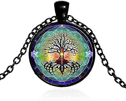 LBBYMX Co.,ltd Necklace Men S Necklace Vintage Amulet Necklace Charm Yoga Chakra Pendant Wisdom Tree Handmade Necklace Good Luck Jewelry