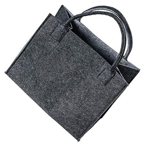 LaFiore24 Hochw. Filztasche Einkaufstasche Filz Shopper Festival Damen Handtasche grau-hellgrau