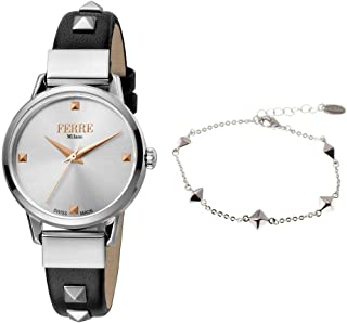 Ferre Milano Casual Watch For Women Analog Leather - FM1L136M0011