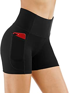 High Waist Yoga Shorts for Women Tummy Control Fitness...