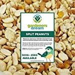 GardenersDream Split Peanuts | Premium Quality Fresh Feed | Garden Wild Bird Nut Food | Aflatoxin Free Mix | Protein Rich, High in Energy Mixture | Nutritious Vitamins and Essential Oils