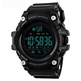 Tayhot Men's Digital Smart Sport Watch,5ATM Waterproof Outdoor Bluetooth Smart Watch Chronograph Alarm LED Back Light Military Large Face Electronic Wrist Watches for Men Running/Climbing/Hiking