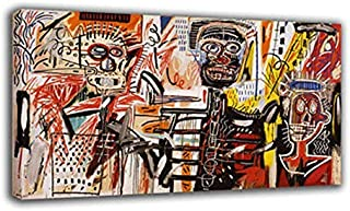 Large Modern Abstract Canvas Oil Painting Jean Michel Basquiat Napoleon Stereotype Print Wall Art Decor for Living Room Home Decoration Unframed/No Stretch (3727(16inx28in) Unframed)