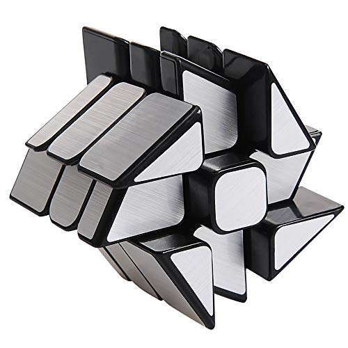 Ttrdye 3x3x3 Puzzle Cubo, Dorado Mirror Cube Cubo Mágico de Oro Cubo Mágico Inteligencia Mágico Cubo de la Velocidad Juego de Puzzle Cube Speed Magic