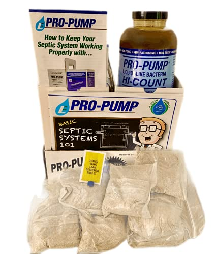 Pro-Pump septic saver 1 year supply with leak detection...