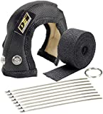Design Engineering 010180 ONYX Series T3 Turbo Shield Kit with Exhaust Wrap, Stainless Steel Zip Ties, and Fastening Wire