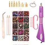 Hotfix Rhinestone Applicator Tool DIY Flatback Wand Setter Tool Kit with 5 Different Sizes...