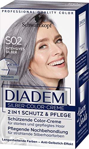 Diadem Silber-Color-Creme S02 Intensives Stufe 3, 3er Pack(3 x 142 ml)