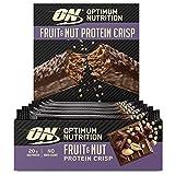 Optimum Nutrition Fruit & Nut Protein Crisp Bar, Barritas Proteínas con Cobertura de Chocolate con Leche, Sin Azúcar, 10 Barras (10 x 70 g)
