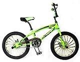 """Reset Bicicleta Freestyle 20"""" BMX Jumper Verde flúor"""