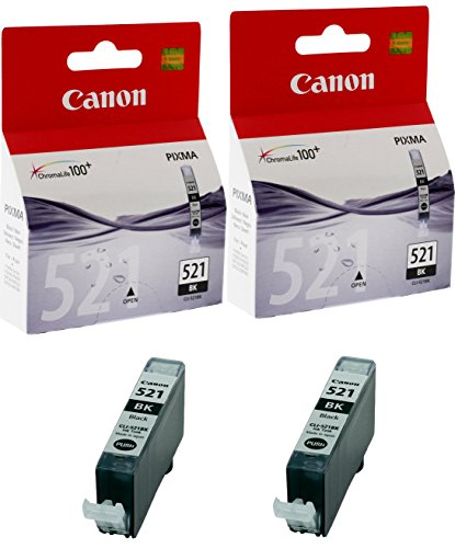 Canon CLI-521BK cartucho de tinta Original negro (paquete de 2)