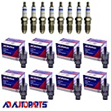 Set of 8 OEM Ignition Coils + Platinum Iridium Fusino Spark Plugs For 2007-09 Chevrolet & GMC Compatible with OEM BS-C1512 and Bosch 4509