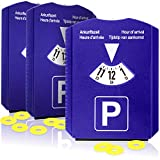 com-four® Disco di parcheggio 3X con raschiaghiaccio, Labbro in Gomma e Chip per Carrello...