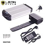 DeHawk E-Bike Pedelec, Bicicleta eléctrica portaequipajes batería Set,/umrüstsatz Plug-It para Herramientas, Conversion Kit, EEC-36V 15Ah (540wh) (Incluye Soporte y, Todos los Modelos Plata