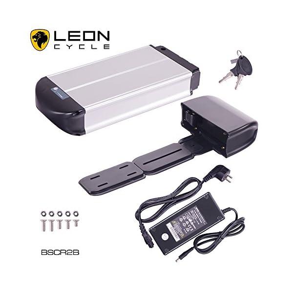 51gu3p xpRL. SS600  - DeHawk E-Bike Pedelec,Elektrofahrrad Gepäckträger Akku Set,Umbausatz/Umrüstsatz,Conversion Kit,36V 15Ah (540Wh) inkl. Halterung und Aufladegerät, Silber