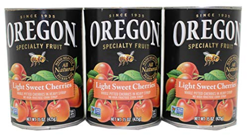 Oregon Light Sweet Cherries 15 Ounce Can Pack of 3