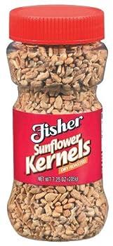 Fisher Dry Roasted Sunflower Kernels 7.25 Oz  Pack of 3