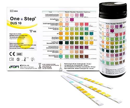 Gesundheitstest für 10 Indikatoren - 100 Urin Teststreifen mit Referenzfarbkarte