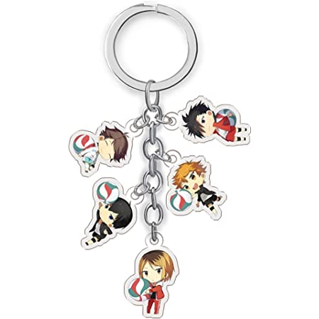 gerFogoo Popular Anime Haikyuu Acrylic Keychain Pendant Key Ring Cosplay Multi-Style01