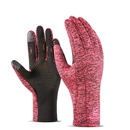 Limaomao Men's and Women's Winter Gloves Snow Gloves Warm Waterproof Windproof Ski Snowmobile Gloves Winter Windproof Snowboard Snow Anti-Slip Cycling Gloves for Men Women (Color : Red, Size : XL)