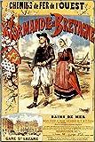 Vintage-Poster Normandie und Bretagne – Format 40 x 60 cm