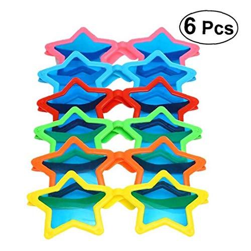 Aisoway 6pcs-Sonnenbrille Partei Geschlitzt Durable Kinder Eye Wear Für Prop-bevorzugungen Photo Booth Für Kostüm-Partei Cosplay