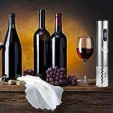 Sacacorchos Eléctrico Abridor de Vino alimentado por tapón de vino vacío cortador de papel de aluminio vertedor de vino vertedor de vino extraíble batería Electric Wine Opener Set(batería no incluida) - 6