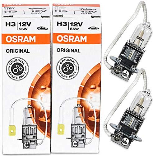 2 x OSRAM 64151 H3 55W High Tech LongLife Halogen Lampe Autolampe Birne UV-Filter Erstausrüster Leuchte 12V Abblendlicht