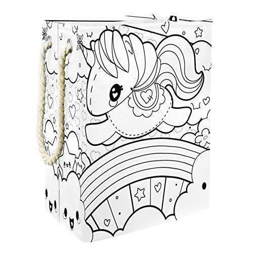 Belle licorne (22) Panier de Rangement de Jouets Pour Enfants de Grande Capacité Boîte de Rangement Bin Salle de jeux Enfants Garçons Filles Collection Jouets