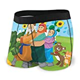 familygam Men's Boxer Briefs Russian Folk Fairy Tale About Turnip M Underpants Knickers