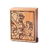 Caja musical de madera tallada con mecanismo de 18 notas, regalo musical para Navidad, cumpleaños, día de San Valentín