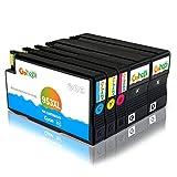 Gohepi - Cartuchos de tinta para HP 953XL, color 2 Black/Cyan/Magenta/Yellow