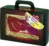 Edler Geschenkkoffer mit einem hochwertigen Stück Serano Schinken 800 g / Weihnachtsgeschenk