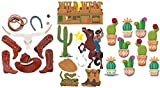 Cowboy Scrapbook Stickers | Country Sticker Set with Boot, Hat, Cactus, Skull, Stars, Horse, Horseshoe, Wild West Theme | for Scrapbooking, Planner, Bullet Journals, Album, Calendars, DIY Crafts