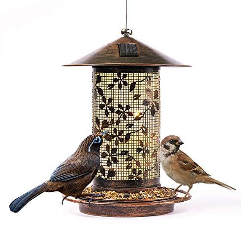 Solar Bird Feeder Outdoor Hanging Light Solar Powered...