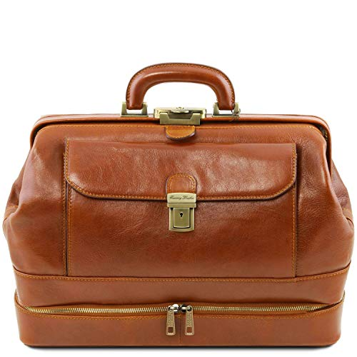Tuscany Leather Giotto - Elégante Mallette médecin en Cuir à Double Fond - TL141297 (Miel)