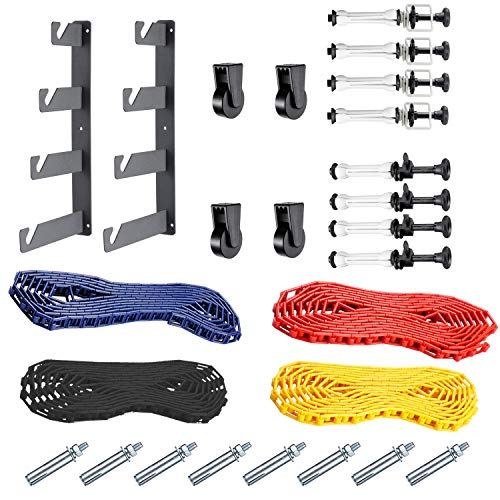 Neewer Photography 4 Roller Wall Mounting Manual Background Support System, including Two(2) Four-fold hooks, Six(6) Expand bars, Four(4) Chains, Ten(10)Clamp Screws