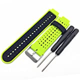 siwetg, cinturino in silicone per smartwatch Garmin Forerunner 220, 230, 235, 620, 630