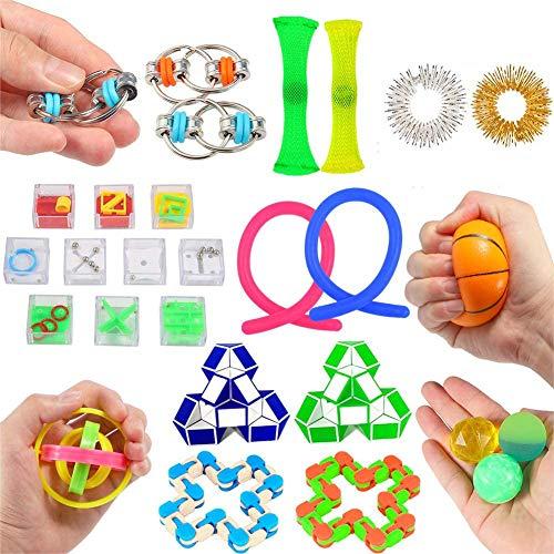 ThinkMax Juguetes sensoriales para el Autismo, 27 Piezas Juguetes para aliviar el estrés para niños y Adultos