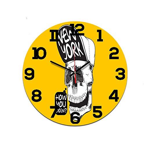 LUOYLYM Robot Reloj De Pared Digital Reloj De Pared Reloj De Acrílico Silencio Inicio Reloj Artesanal Creativo Despertador Sin Marco Ctt-199 28cm
