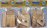 Creative Hobbies Wood Model Kit Birdhouse - Wholesale Lot of 3 Ready to Finish Kits
