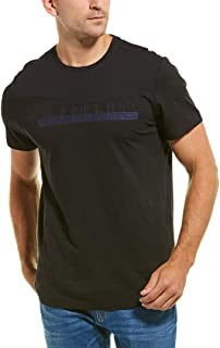 Mens Embroidered Logo T-Shirt, M, Black